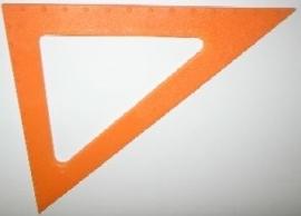Graden driehoek 45° met puntenindicatie (300341)