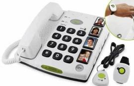 Telefoon met fototoetsen voor slechtzienden - Doro huistelefoon met alarmfunctie