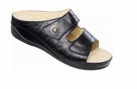 Slipper met klittenband, Comfortslippers - Ortho-lady