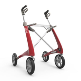 Lichtste rollator ter wereld, de Ultra lichtgewicht carbon rollator van 4,95 kg met verborgen remkabels