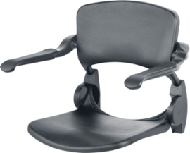 Handicare grijze douchezitting voor aan de muur met opklapbare armleuningen - 9837137