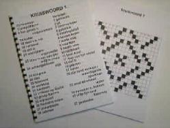Grootletter kruiswoordpuzzelboek met grote letters voor slechtzienden - UT1113