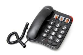 Telefoon voor slechtzienden met grote toetsen - Big button telefoon zwart