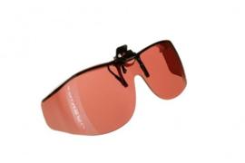 Voorhanger zonnebril Cocoons voor slechtzienden - Bruin/Amber