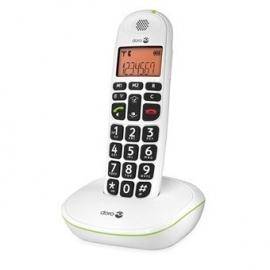 Draadloze (dect) telefoon met grote toetsen, Doro 100w, wit - 247610