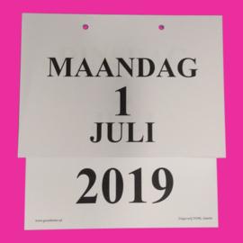 Grootletter dagkalender A5 - 2019, kalender met grote letters en grote cijfers
