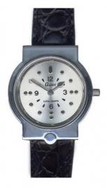 Horloge met puntenindicatie met leren band, Gardé horloge 22-17SW- ST643142