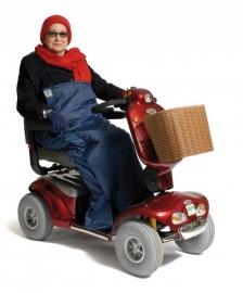 Gevoerde beenzak, schootskleed voor scootmobiel - Deluxe Scooter cosy