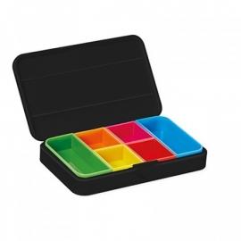 Pillendoos met alarm zwart, Smart pill box met App op uw telefoon