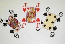 Opti speelkaarten voor slechtzienden met extra grote cijfers en letters, 2 sets (694646)