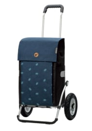 Boodschappenwagen met grote luchtbanden, Royal Shopper Ando Blauw