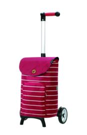 Lichte boodschappenwagen om te duwen of trekken, Unus Shopper Fun Mia Rood