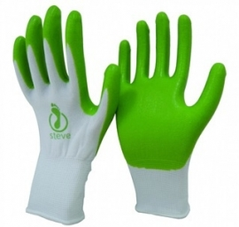 Latexvrije handschoenen voor aantrekken steunkousen