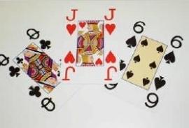 Opti speelkaarten voor slechtzienden met extra grote cijfers en letters, 2 sets - 694646