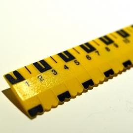 Liniaal (met voelbare streepjes) geel/zwart 30 cm.