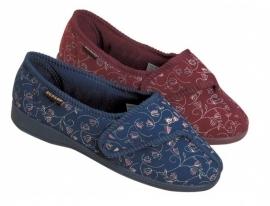 Pantoffel voor vrouwen, pantoffel met klittenband, Bluebell - PR55150