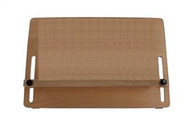 Leesstandaard groot model van hout, A3 formaat