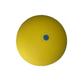 Gymnastiekbal met rinkelbel, 19 cm, geel