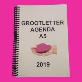 Grootletter agenda A5 - 2019 voor Alzheimer en Dementie, agenda met grote letters