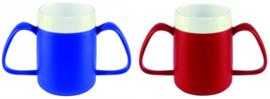 Conische beker met twee handvatten, drinken zonder uw hoofd te kantelen