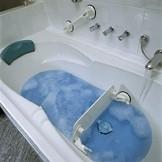 Mobiele badwandverkorter met zuignappen