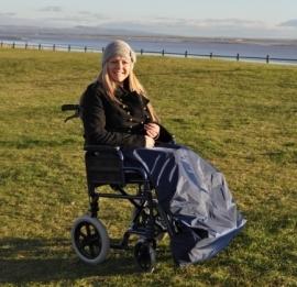 Schootskleed voor de rolstoel gevoerd, rolstoelkleding - PR34020-D