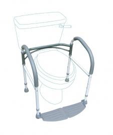Opvouwbare, in hoogte verstelbare toiletsteun - om op te staan van het toilet