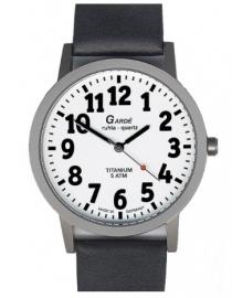 Heren horloge voor slechtzienden met grote zwarte cijfers  - 650780