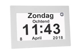 Nederlands sprekende kalenderklok voor ouderen, blinden en slechtzienden