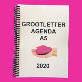 Grootletter agenda A5 - 2020 voor Alzheimer en Dementie, agenda met grote letters