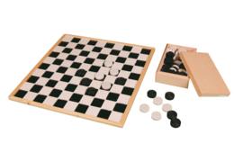 Dambord groot voor blinden en slechtzienden met voelbare vlakkenverdeling  - PO1050