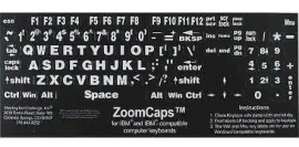 Toetsenbordstickers voor slechtzienden met grote letters en cijfers wit op zwart (683153)