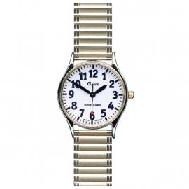 Dames horloge voor slechtzienden met grote cijfers en rekband van Gardé - 643115