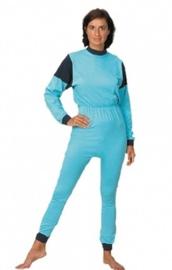 Hansop, plukpak voor volwassenen zonder voet met rugritssluiting in blauw