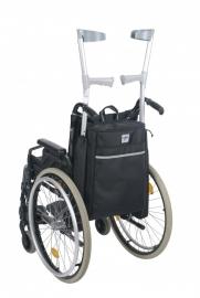 Rolstoeltas en krukhouder in één, tas voor rolstoel of scootmobiel