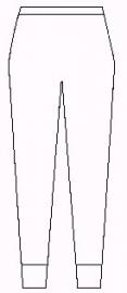 Wollen onderbroek met lange pijp, lange wollen onderbroek (40% angora ondergoed Peters Angora) - 60001