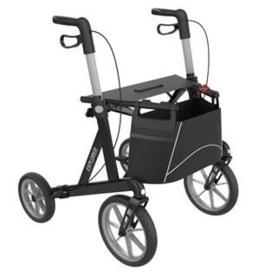 Extra brede rollator met grote wielen, Buitenrollator, Server Rehasense Explorer Outdoor Large - Zwart