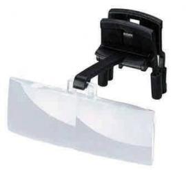 Labo clip-on dubbel (opzetloep voor bril), vergroting 2,5x (op montuur te klemmen) - 164625