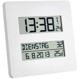 Kalenderklok Alzheimer met dag, datum en temperatuur, radiografisch gestuurd - TF1000