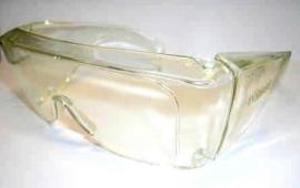 Overzetbril (bescherming gevoelige ogen en wind) Noir UV-Shield 10, 90% lichtdoorlatend, transparant