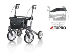 Topro Olympos Medium, lichtgewicht rollator met grote wielen - handig voor in de auto