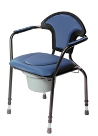 Toiletstoel in hoogte verstelbaar, blauw
