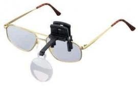 Labo clip-on enkel, opzetloep voor bril, vergroting 4x (164640)