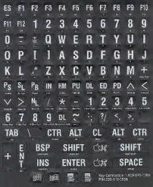 Braille toetsenbordstickers zwart (683159)