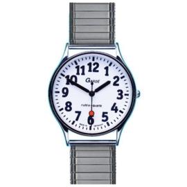 Horloge voor slechtzienden met stalen rekband, Gardé horloge 44-5MZ - ST643117