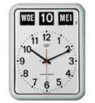 Nederlandse kalenderklok BQ-12A Wit, kalenderklok die tijd en datum weergeeft (619050)