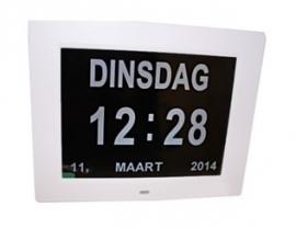 Kalenderklok met dag, tijd, maand en jaar