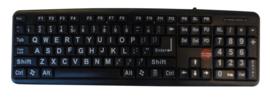Toetsenbord voor slechtzienden met grote cijfers en grote letters met zwarte ondergrond - 683177