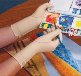 Norco oedeem handschoen, hele vinger tot over de pols (Elastische kous voor arm tegen vochtvorming)