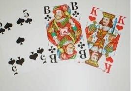 Speelkaarten voor slechtzienden met grote cijfers en karakters, Senioren Romme